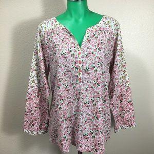 Sundance Floral Top Blouse Shirt Size XL
